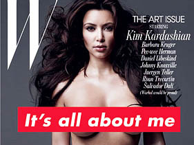 Kardashianmagazine Pictures on After The  Controversial W Magazine Kim Kardashian Silver Paint