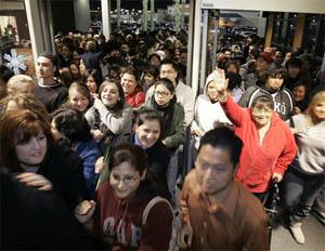 Black Friday Shopping Rush
