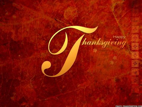 Thanks Giving Red Wallpaper