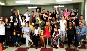 OITNB cast & crew celebrate 12 #Emmy nominations on set!